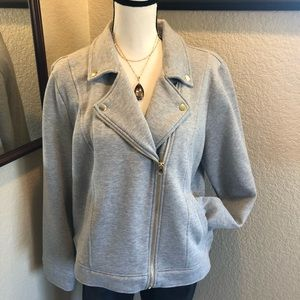Juicy Couture Sweatshirt Moto Jacket